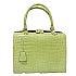 モラビト オルセー ライムグリーン マットクロコダイル 鍵付きハンドバッグ 中古品の買取強化例です。