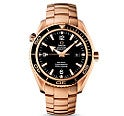 オメガ 222.60 シーマスター プラネット オーシャン コーアクシャル K18金無垢 黒文字盤 腕時計
