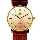 オメガ ラウンド文字盤 革ベルト ジュネーブ アンティーク 手巻き 腕時計の買取強化例です。