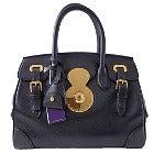 ラルフローレン ブラック ゴールド金具 リッキー レザーハンドバッグ 美品の買取強化例です。