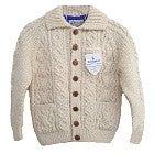 インバーアラン ロンハーマン別注 3A ウール ケーブル編み ローゲージ カーディガン 未使用の買取強化例です。