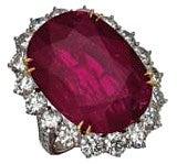 pt900 ルビー10.5ct メレダイヤ0.99ct 指輪