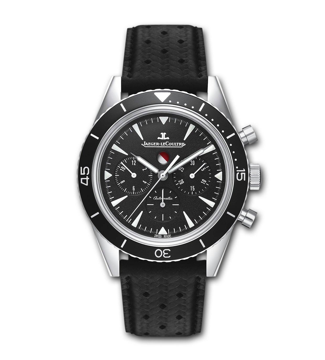 ジャガールクルト  黒文字盤 ディープシー クロノグラフ ダイバース ステンレス 腕時計の買取強化例です。