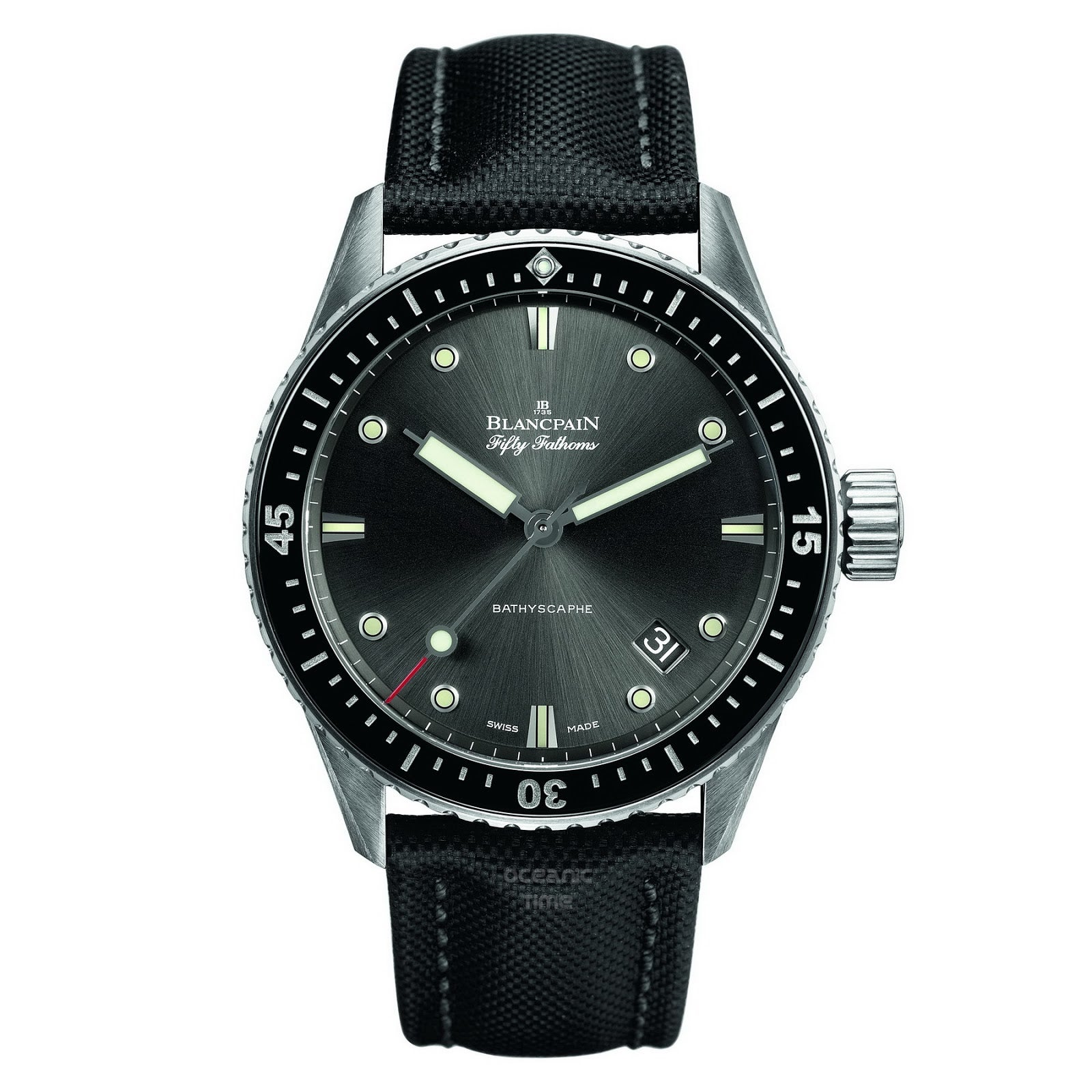 ブランパン 5100B-1110-B52A フィフティファゾムス バチスカーフ 自動巻き時計 未使用の買取強化例です。