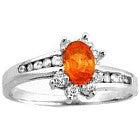 pt950 オレンジサファイア4.51ct ダイヤモンド0.77ct リングの買取強化例です。