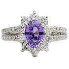 pt950 バイオレットサファイア2.17ct ダイヤモンド1.09ct 指輪の買取強化例です。