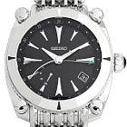 セイコー ガランテ SSベルト GMT SBLA051 黒文字盤 スプリングドライブ自動巻き 時計の買取強化例です。