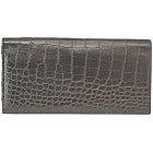 カミーユフォルネ 黒 アリゲーター クロコダイルレザー 二つ折り長財布(札入れ) 中古美品の買取強化例です。