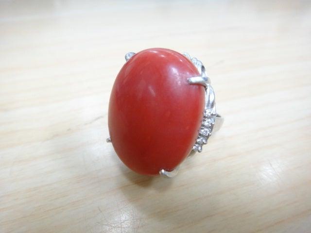 特大!血赤珊瑚のリングをお売りいただきました!エコスタイル浜松宮竹店