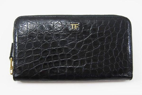 トムフォードの黒 クロコ ラウンドファスナー 財布の買取実績です。