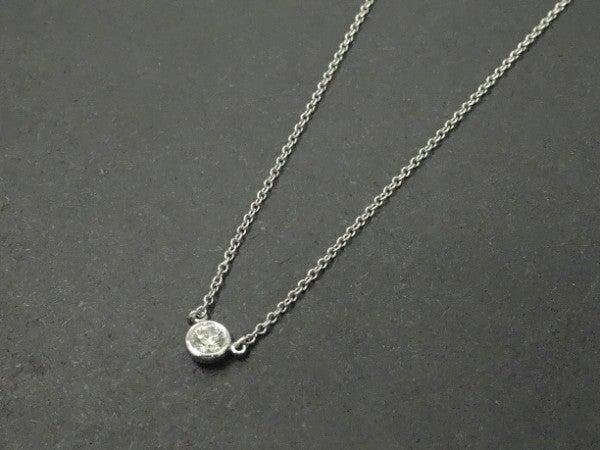 ティファニーの1Pダイヤモンド バイザヤード ネックレスの買取実績です。