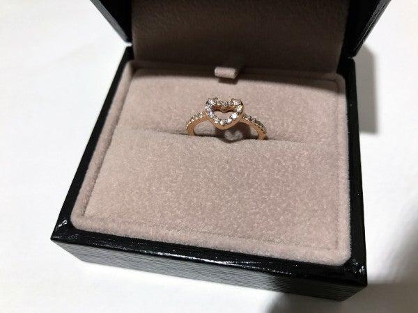 ダイヤモンドのダイヤ付き 18kリングの買取実績です。