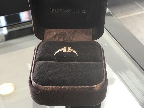 ティファニーのTワイヤーリング 750WGの買取実績です。