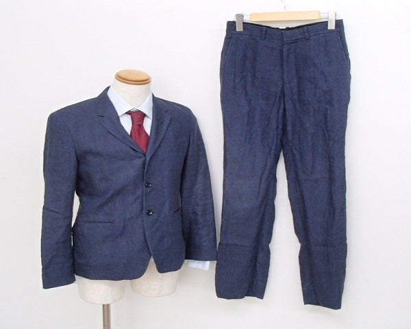 エヌハリウッドのネイビー リネン スーツの買取実績です。