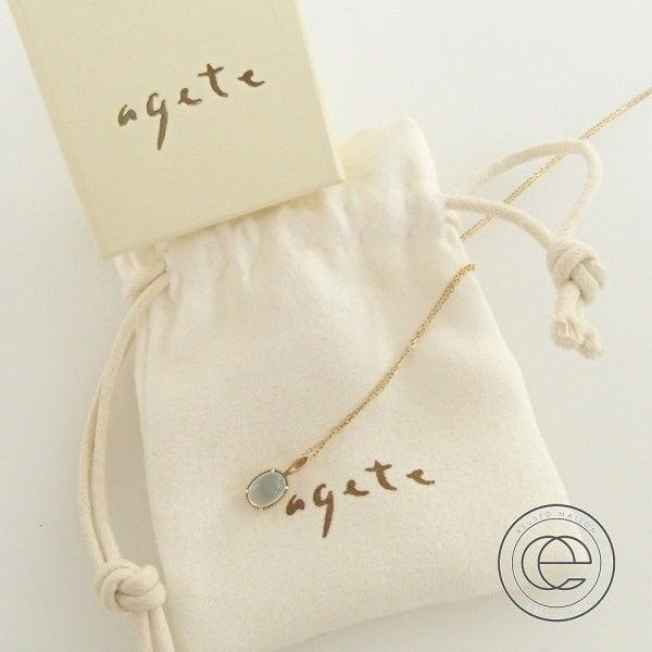 アガット(agete)のオーバルストーンネックレスを買取りました。