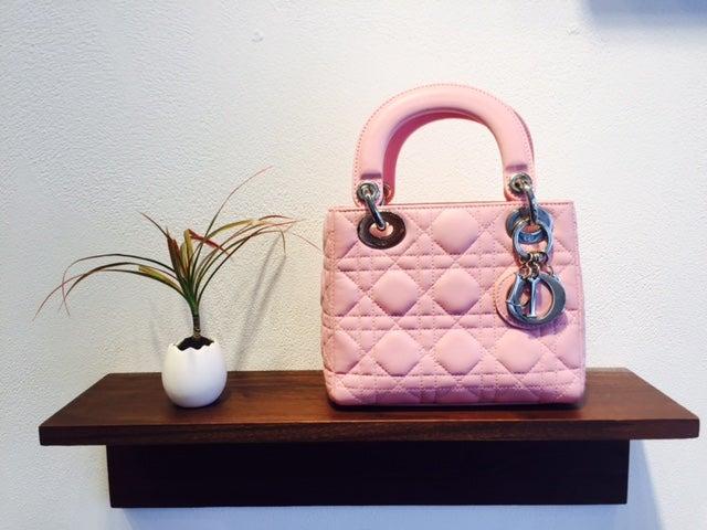 クリスチャンディオールのピンク ラムスキン ミニカナージュ 2WAYバッグの買取実績です。