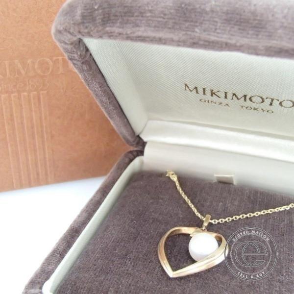 エコスタイルでミキモトのハートネックレスを買取致しました。