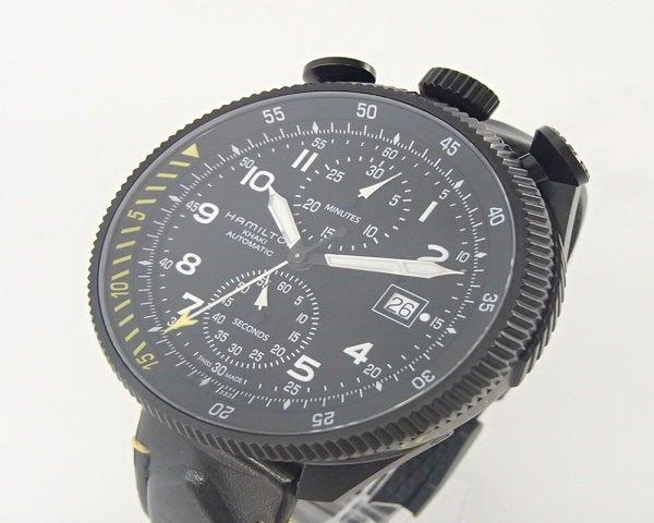 ハミルトンのH76786733 世界1999本限定 カーキ アビエーション オート クロノグラフの買取実績です。