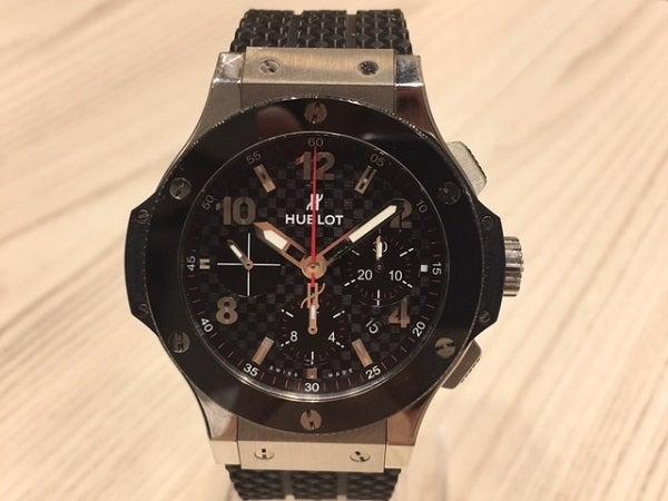 finest selection 58e24 a846c ウブロ 黒 ビッグバン 自動巻き時計 ※現品のみ 買取実績 2017年8 ...
