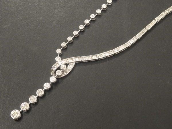 ダイヤモンドのK18WG 6.60ct ネックレスの買取実績です。