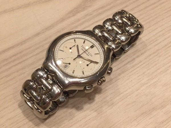 ティファニーのティソロ クロノグラフ クオーツ時計の買取実績です。