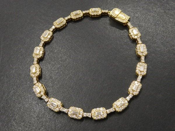 ダイヤモンドのK18YG 1.52 2.75  ダイヤモンドブレスレットの買取実績です。