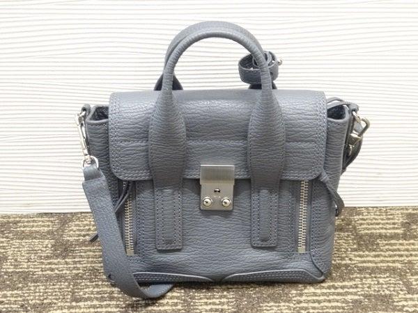 3.1フィリップリムのグレー レザー ミニ サッチェル 2WAY バッグの買取実績です。