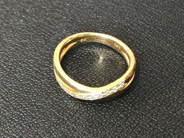 ダイヤモンドの0,07ct 3,4グラム ダイヤリングの買取実績です。