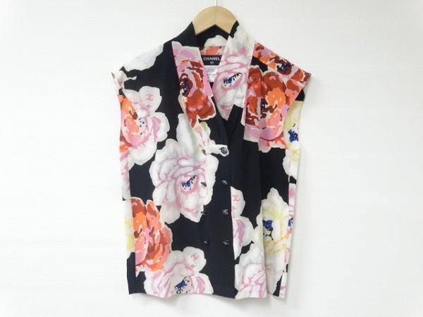 シャネルのP41 花柄 シルク ノースリーブ シャツの買取実績です。