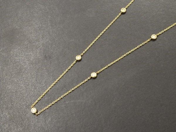 ダイヤモンドのK18 5Pダイヤモンド ネックレスの買取実績です。