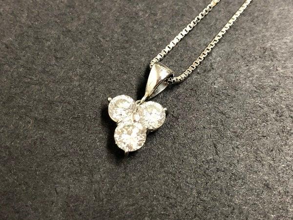 ダイヤモンドの0.773 0.724 0.796ct ダイヤネックレスの買取実績です。