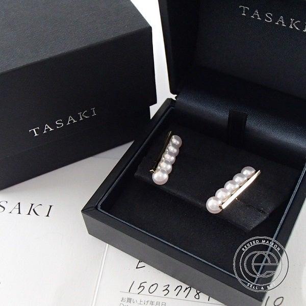 TASAK(タサキ)のK18 アコヤパールのピアスをお買取り致しました。