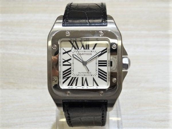 エコスタイル銀座本店にてカルティエ(Cartier)のサントス100LM自動巻き腕時計を買取致しました。