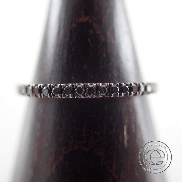 ロンハーマン(Ron Herman)の14K、ブラックダイヤのフルエタニティリングを高価買取り致しました。