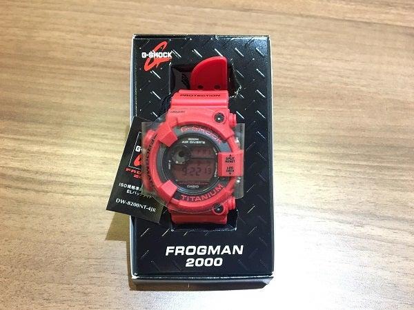 ジーショックのDW-8200NT-4JR1294 フロッグマン赤蛙 1000本限定の買取実績です。