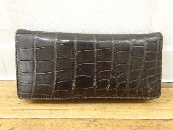 大峡製鞄のクロコダイル 二つ折り 長財布の買取実績です。