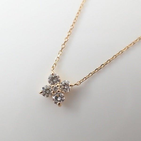 ヴァンドーム青山のK18YGダイヤモンドカローラ ネックレス買取。ブランドジュエリー売るならエコスタイルへ