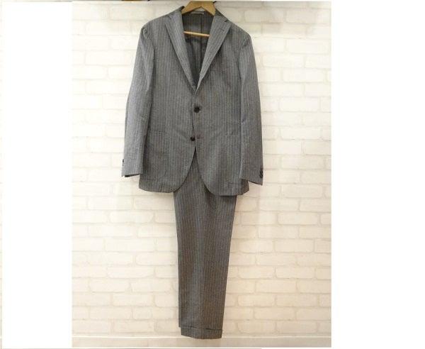 ボリオリのドーヴァー ストライプ ウール 3B スーツの買取実績です。