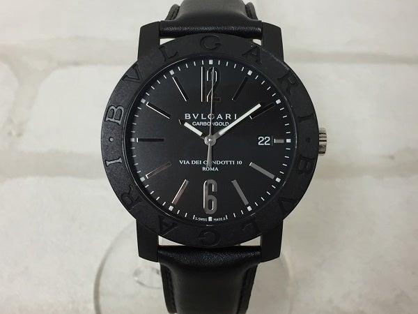 ブルガリのBB40CL ブルガリブルガリ カーボンシルバー 裏スケルトン 自動巻き時計の買取実績です。