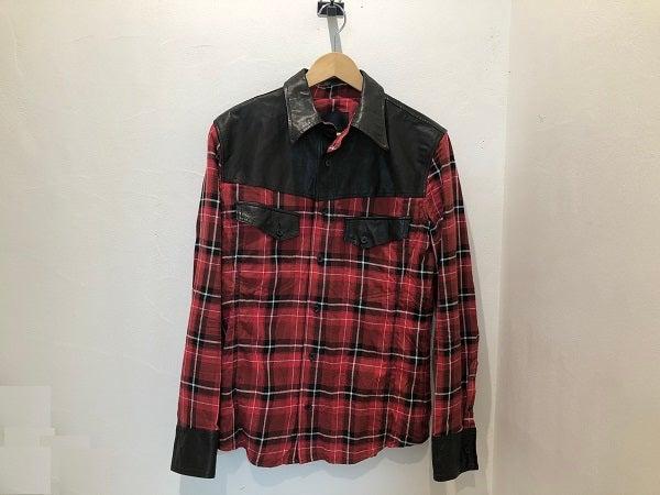 イサムカタヤマバックラッシュの コットン リネンチェック × ドイツカーフ シャツ 1345-01の買取実績です。