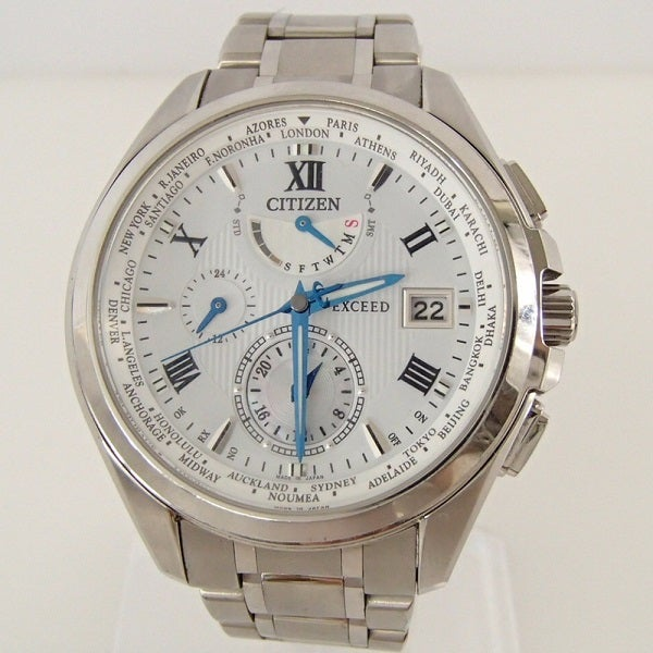 3047のエクシード ダブルダイレクトフライト エコドライブ ソーラー電波 腕時計の買取実績です。
