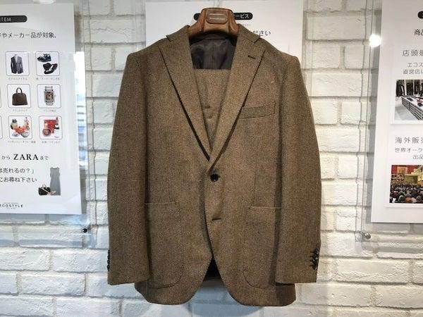 ユニバーサルランゲージの×MOON社 ブラウン 本切羽 サイドベンツ シングル2釦スーツの買取実績です。