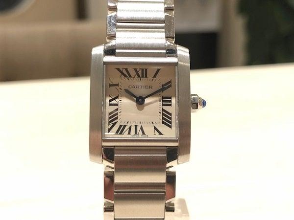 2918のタンクフランセーズ SS クオーツ腕時計 レディースの買取実績です。