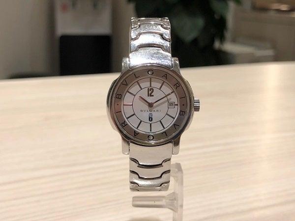 ブルガリの白文字盤 ソロテンポ クオーツ 腕時計 レディース の買取実績です。