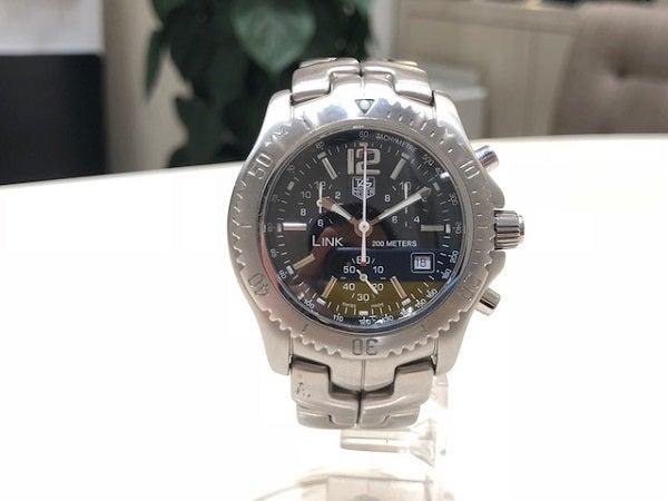 タグホイヤーの黒文字盤 リンク クオーツ 腕時計 メンズの買取実績です。