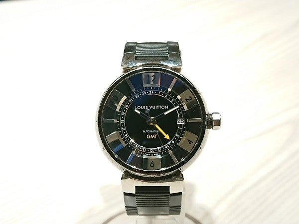 ルイヴィトンのQ113K タンブール インブラックGMT  自動巻き 腕時計の買取実績です。
