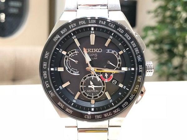 セイコーのアストロン 黒 SBXB123 8X53-0AV0-2 チタンモデル 腕時計の買取実績です。