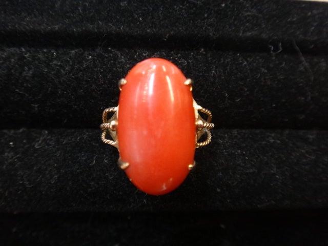 赤珊瑚のリングをお買取させていただきました。エコスタイル浜松鴨江店