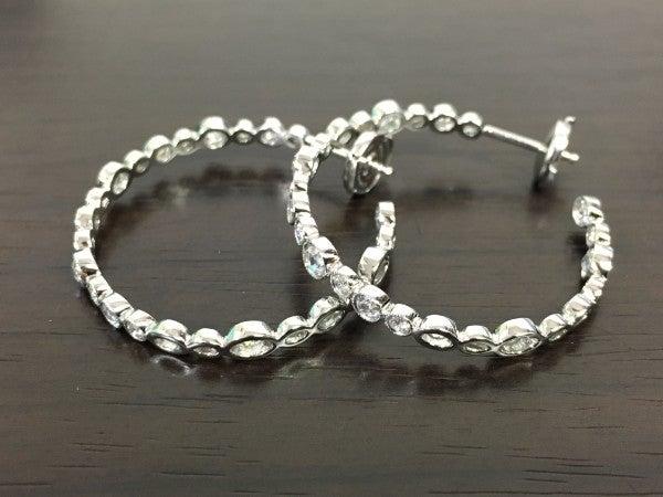 ティファニーのPT950 コブルストーン ダイヤモンドフープピアスの買取実績です。