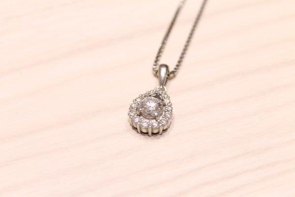 ダイヤモンドのダイヤモンド 0.66ct 0.41ct ネックレスの買取実績です。